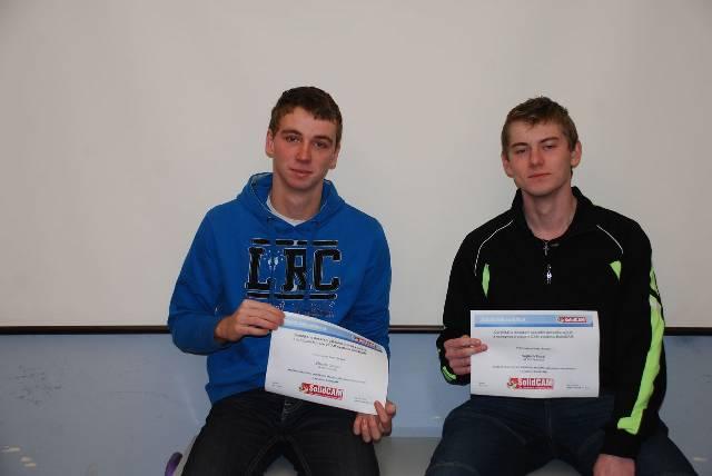 První dva studenti získali certifikát SolidCAM